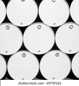 Front view of fuel blank drums.