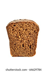Front view of the halved fresh bread