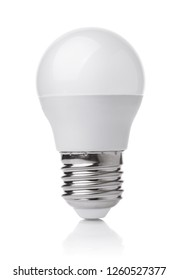 Front view of LED light bulb isolated on white