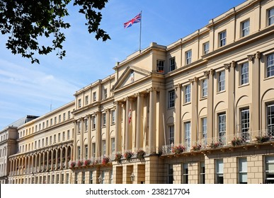 Front view of the Municipal Offices along the Promenade, Cheltenham, Gloucestershire, England, UK, Western Europe.