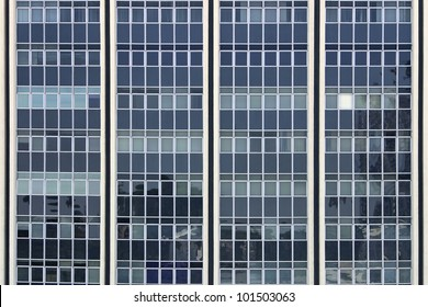 Front view of office building windows