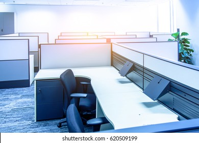 Front view of an office interior.Contracted office