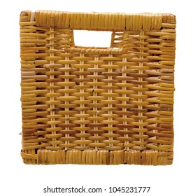 front view on rattan basket