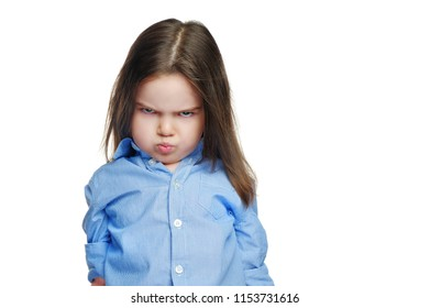 Front view picture of a child pout