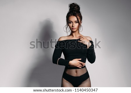 e872b74a5 Front View Pretty Girl Sexy Figure Stock Photo (Edit Now) 1140450347 ...