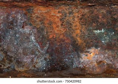 Front view  of  rusty texture or background. Copy space. Place for text. graphic resource