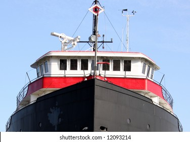 Front view of a ship