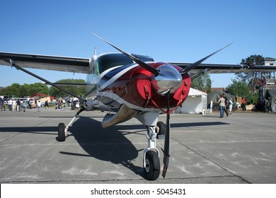 Front view of small airplane