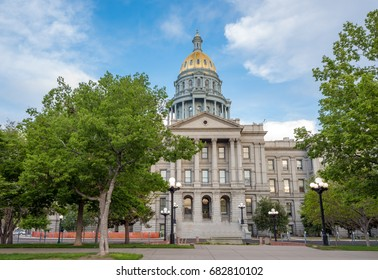 Front view of the State Capital of Colorado
