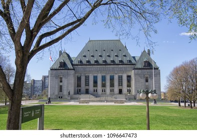 Front  view of Supreme Court of Canada, Ottawa, Ontario,  Canada