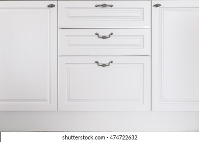 white drawer front. Front View Of White Wooden Chest Drawers With Metal Long Handles Drawer S