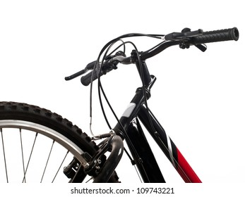 front wheel and handlebar of bicycle