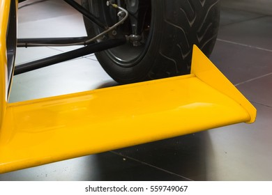 front wing on the sports car