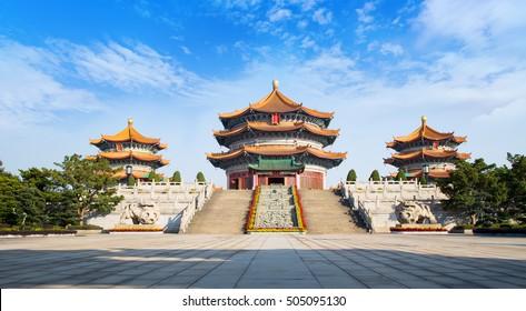 Front of Yuanxuan Taoist Temple Guangzhou GuangDong, China