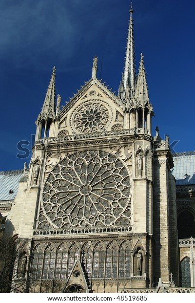Frontage Cathedral Notredame Paris France Stock Photo Edit Now