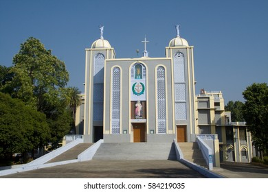 Frontage of modern Church at Jhansi in Uttar Pradesh, India, Asia