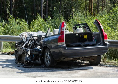 frontal collision of Volvo and truck with tanker for transportation of gasoline., in Latvia on the A9 road, which occurred on the evening of August 17, 2018 Driver or Volvo car died in the car.
