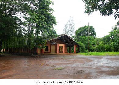 Frontal View of Church for Holidays Western Ghats at state of Maharashtra near sacred Heart Church wakanda Church in India.