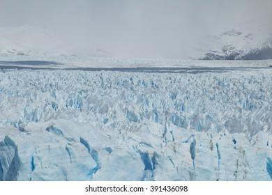 Frontal view of the Perito Moreno Glacier in Argentina