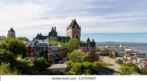 Frontenac Castle and Dufferin Terrace - Quebec