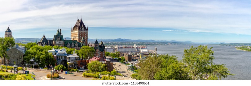 Frontenac Castle and Dufferin Terrace - Quebec