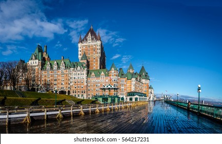 Frontenac Castle and Dufferin Terrace - Quebec City, Quebec, Canada