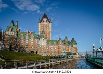 Frontenac Castle and Dufferin Terrace - Quebec City, Quebec, Canada