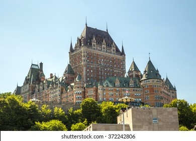 Frontenac castle in Quebec city