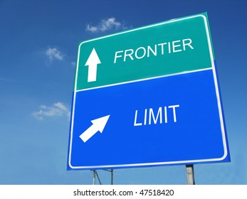 FRONTIER-LIMIT road sign