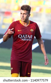 FROSINONE, ITALY - JULY 20,2018: Stephan El Shaarawi during Friendly football match between AS Roma vs Avellino at the Stirpe Stadium in Frosinone.