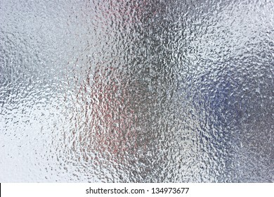 Frost abstract background - glass in frozen day