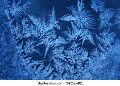 Frost pattern on the window