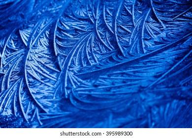Frost pattern on a window