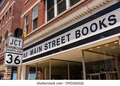 Frostburg, MD 06-12-2021 Historic main street in Frostburg Maryland