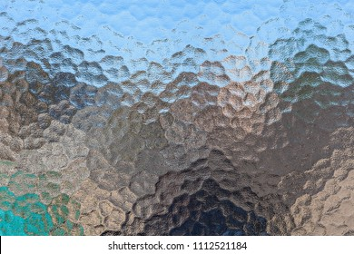Frosted bathroom privacy glass texture pattern