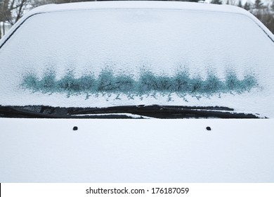 Frosted Car Windshield