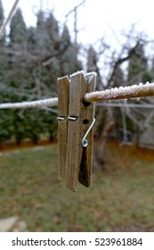 frosted clothespins