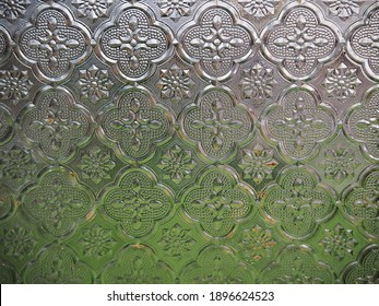Frosted glass with the flower pattern have the fuzzy view , wallpaper