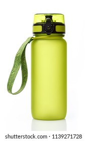 Frosted green drinking bottle for sport and fitness