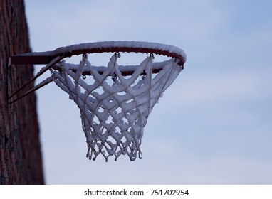 Frosty basketball hoop
