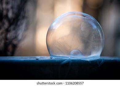 Frosty Bubble on a black ground
