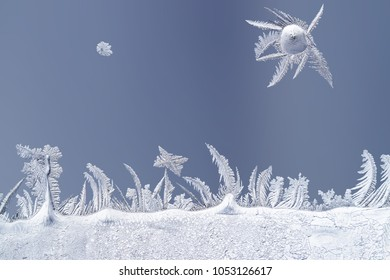 Frosty image on the glass