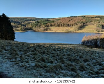 Frosty morning looking over the Goyt Valley in the Peak District