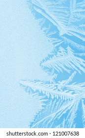 Frosty pattern at a window.