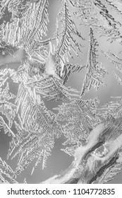 Frosty pattern at a winter window glass.