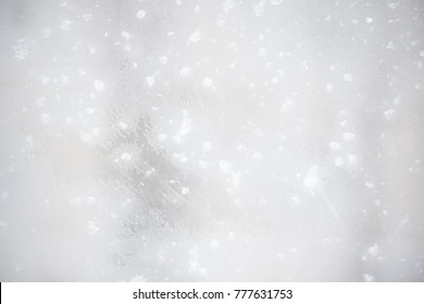 Frosty snowy background. Beautiful winter window.