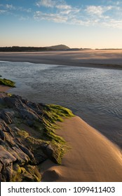 Frouxeira beach at sunset in Galicia, Spain.