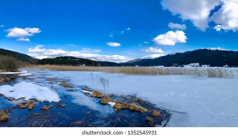 Frozen Abant Lake, Bolu, Turkey