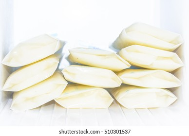 frozen bags of breast milk