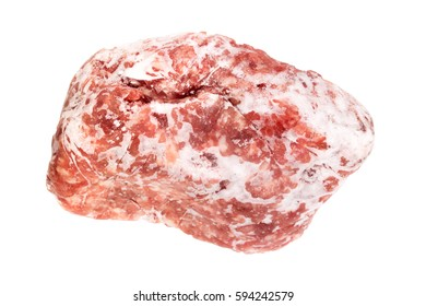 Frozen chopped meat. Isolated on white background